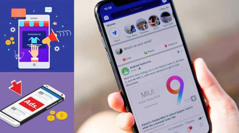 Hệ thống quảng cáo Facebook Marketing trên điện thoại